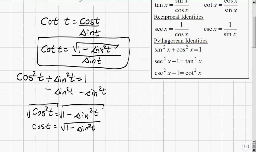 Classroom   Trigonometry: Writing One Trigonometric Function